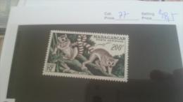 LOT 224469 TIMBRE DE COLONIE MADAGASCAR NEUF* N�77 VALEUR 28,5 EUROS