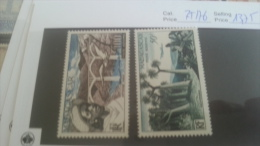 LOT 224470 TIMBRE DE COLONIE MADAGASCAR NEUF* N�75/76 VALEUR 13,75 EUROS