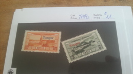 LOT 224489 TIMBRE DE COLONIE MAROC NEUF* N�27/28 VALEUR 11 EUROS