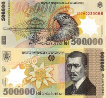 ROMANIA P-115 500,000 Lei 2000  **UNC** Crisp New, Plastic-polymer - Rumänien