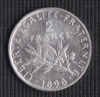 A SAISIR ---2 FRANCS SEMEUSE ARGENT 1898--- ETAT : TB//TTB+++ - I. 2 Francs