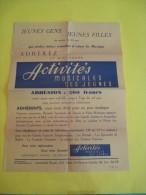 """Jeunes Gens Jeunes Filles Adhérez Au Mouvement """"Activités Musicales Des Jeunes""""/1955    VP662 - Partitions Musicales Anciennes"""