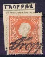 Österreich 1858 Mi Nr 10 I Used  Cat Value  € 500  TROPPAU - 1850-1918 Imperium