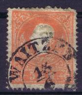 Österreich 1858 Mi Nr 10 I Used  Cat Value  € 500  WAITZEN, Some Damage Right Top Corner - 1850-1918 Imperium