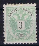 Österreich 1867 Mi Nr 45 D Perfo 10,50   MH/* - Ungebraucht