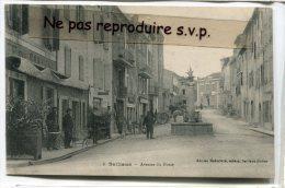 - 4 - Saillans - ( Drome ), Avenue Du Fossé, Attelage, Tombereau, Café, Coiffeur, Fontaine, Enfants, écrite, TBE, Scans. - France