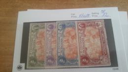 LOT 224525 TIMBRE DE ITALIE NEUF** N�124 A 127 VALEUR 12 EUROS