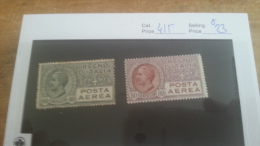 LOT 224528 TIMBRE DE ITALIE NEUF** N�4/5 VALEUR 23 EUROS