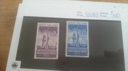 LOT 224530 TIMBRE DE ITALIE NEUF* N�561/562 VALEUR 110 EUROS