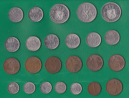 NETHERLANDS - 25 Different Coins - Netherlands