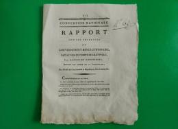 D-FR ROBESPIERRE 1793 Rapport Sur Les Principes Du Gouvernement Revolutionnaire - Historische Dokumente