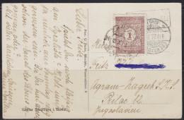 5941. Germany, 1923, Stamp Not Sticked, Added Porto Stamp Of Kingdom Of Yugoslavia, Postcard - Bad Neuenahr-Ahrweiler