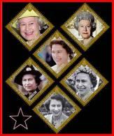 GIBRALTAR 2012 QUEEN ELIZABETH II In DIAMONDS Face VALUE 4£=$6.60 MNH - Royalties, Royals