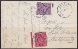 5943. Kingdom Of Yugoslavia, 1932, Brezje, Stamp Not Sticked, Added Porto Stamps, Postcard - Jugoslawien
