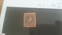 LOT 224533 TIMBRE DE MONACO NEUF* N�2 VALEUR 80 EUROS NON DENTELE