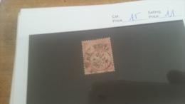 LOT 224548 TIMBRE DE MONACO OBLITERE N�15 VALEUR 11 EUROS