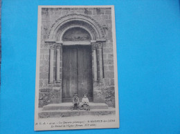 16: SAINT-MAURICE Des LIONS : LE PORTAIL De L'EGLISE : C.P.A.,carte En Trés Bon état , Animée - Churches & Cathedrals