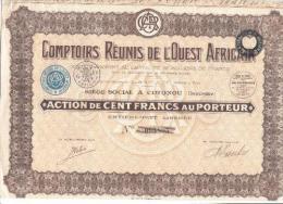 Comptoirs Réunis De L'Ouest Africain - 1929 - Afrique