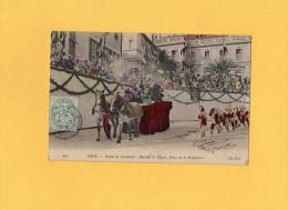 NICE - Scènes De Carnaval - Bataille De Fleurs - Place De La Préfecture - Carnaval