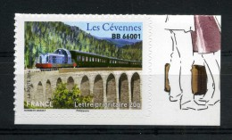 ADHESIF N° 1006 LES CEVENNES TRAIN BB 66001 TIMBRE NEUF ** - France