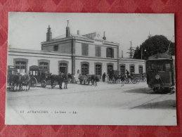 Dep 44 , Cpa AVRANCHES , 61 , La Gare , LL (V.201)Recto/Verso - Avranches