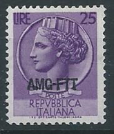 1953-54 TRIESTE A TURRITA 25 LIRE MNH ** - ED928 - Ungebraucht