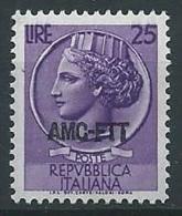 1953-54 TRIESTE A TURRITA 25 LIRE MNH ** - ED928-2 - Ungebraucht