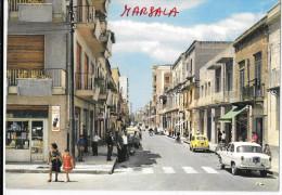 SICILIA-MARSALA VIA ROMA AUTO D'EPOCA NEGOZI ANIMATISSIMA ANNI 60 - Marsala