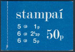 IRELAND/Irland/Eire 1974 Definitive 50p Booklet, Blue Cover** - Libretti