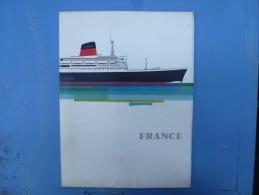 LANCEMENT DU PAQUEBOT FRANCE, DRAEGER EDITEUR, SUPERBE PLAQUETTE 1960 - Pubblicitari