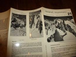 MASSIF Du MONT-BLANC  Fiche 21 éditée Par Compagnie Des Guides De Chamonix : RAVANEL, MUMMERY - Other Collections