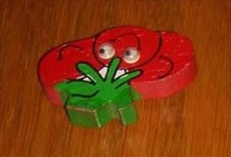 Magnet : Thème Les Fruits & Légumes  - Tomate - Humoristiques