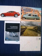 5 Postcards On Cars - Mazda Ford BMW Toyota - Australia Beach Island Italy Chart FranceJapan - PKW
