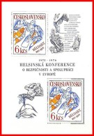 CZECHOSLOVAKIA 1976 EUROPA CONFERENCE M/S Sc#2076 MNH - Blocks & Sheetlets