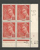 COIN DATE N� 412 / 1942 NEUF* TTB
