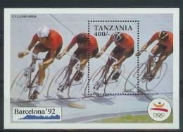 Mua856 SPORT OLYMPISCHE SPELEN WIELRENNEN OLYMPIC GAMES BARCELONA BICYCLE BAHN-VERFOLGUNGSVIERER TANZANIA 1991 PF/MNH - Zomer 1992: Barcelona