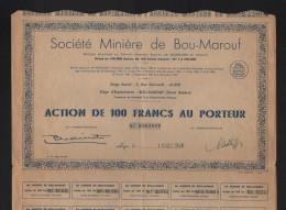 Société Minière De BOU-MAROUF (ALGERIE) - Shareholdings