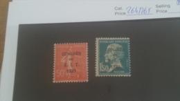 LOT 224649 TIMBRE DE FRANCE NEUF** N�264/265 VALEUR 55 EUROS