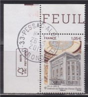 = Centenaire Théâtre Des Champs Elysées Coupole Et Façade Extérieure Du Théâtre N°4737 Oblitéré Coin De Feuille - France