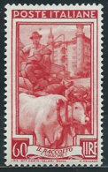 Italia 1950 Nuovo* - Italia Al Lavoro £ 60 Traccia Di Linguella - 6. 1946-.. Repubblica