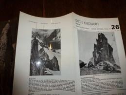 MASSIF Du MONT-BLANC :  Fiche 26,  éditée Par Compagnie Des Guides De Chamonix : PETIT CAPUCIN Face Est - Other Collections