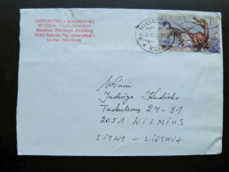 Cover Sent From Poland To Lithuania On 2000 Dinosaur - 1944-.... Republic
