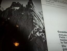 MASSIF Du MONT-BLANC :  Fiche 25,  éditée Par Compagnie Des Guides De Chamonix : PYRAMIDE DU TACUL Arête Est - Other Collections