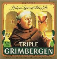 Etiquette De Bière Belge. Bière GRIMBERGEN - Bier