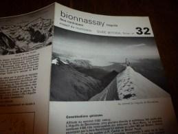 MASSIF Du MONT-BLANC : Fiche 32,éditée Par Compagnie Des Guides De Chamonix : BIONNASSAY  L'AIGUILLE Face Nord-Ouest - Other Collections