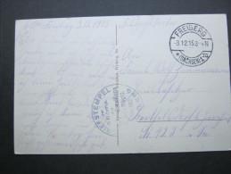 1915 , FREIBERG  , Truppensiegel Auf   Feldpostkarte - Brieven En Documenten