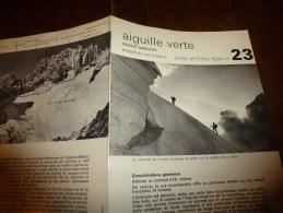 MASSIF Du MONT-BLANC Fiche 23, Par Compagnie Des Guides De Chamonix : AIGUILLE VERTE Couloir Couturier - Other Collections