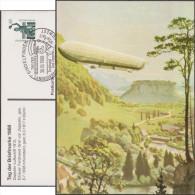 Allemagne 1988. Privatganzsache, Entier Postal Timbré Sur Commande. Sindelfingen Journée Du Timbre. Zeppelin 1912 - Zeppeline