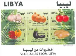 LIBYA 2014 MNH - VEGETABLES FROM LIBYA - Sheetlet - Libya