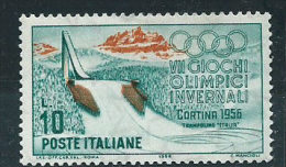 Italia 1956 Nuovo** - Cortina £ 10 - 6. 1946-.. Repubblica
